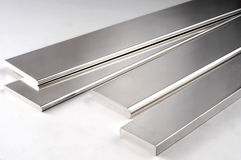 Metallo Rod d'argento Fotografia Stock