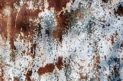 Metallo strutturato arrugginito scheggiato della pittura immagini stock libere da diritti