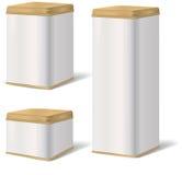 Metallo Tin Can Alimento inscatolato dell'annata Insieme del pacchetto del prodotto Fotografie Stock