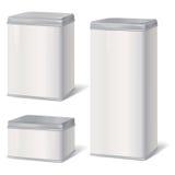 Metallo Tin Can Retro alimento inscatolato Imballaggio del prodotto Fotografia Stock