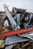 Metallo torto da costruzione distrussa Fotografia Stock
