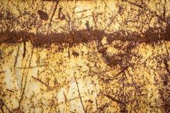 Metallo verniciato arrugginito Fotografia Stock Libera da Diritti