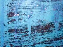 Metallo verniciato blu Fotografia Stock Libera da Diritti