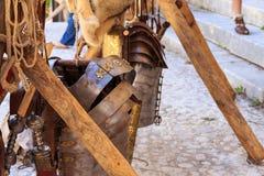 Metallomslag och Gladius royaltyfri foto
