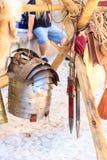 Metallomslag och Gladius royaltyfri fotografi