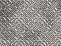 Metallpanel med texturerade bulor Arkivfoton