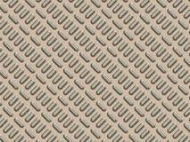 Metallpanel med texturerade bulor Arkivfoto