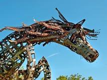 Metallpferd Stockbild