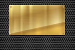 Metallplatta över spisgallertextur, rostfritt stål stock illustrationer