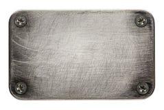 metallplatta Arkivbild