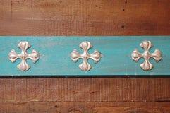 Metallplatta i blommaform Arkivfoton