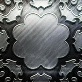 Metallplatta med den sned modellen Royaltyfri Fotografi