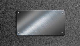 Metallplatta med illustrationen för nitar 3d vektor illustrationer