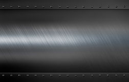 Metallplatte mit Illustrationshintergrund der Niete 3d Lizenzfreies Stockbild