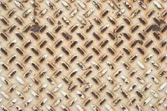 Metallplatte mit Muster, das Schmutz und beunruhigt für einen Hintergrund oder einen Hintergrund ist Horizontale flache Lage, die stockfotografie