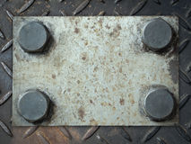 Metallplatte mit Nieten Lizenzfreie Stockfotografie