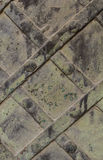 Metallplatte mit verdrehte Platten Lizenzfreies Stockbild