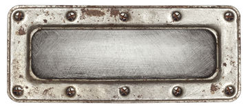 Metallplatten Stockfotografie