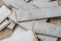 Metallplatten lizenzfreies stockfoto