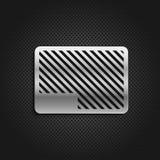 Metallplatten auf schwarzem Hintergrund Stockbilder