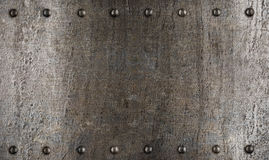 Metallplatten- oder Rüstungsbeschaffenheit mit Nieten Stockbilder