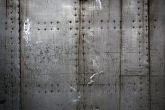 Metallplatten zusammengebaut mit Nieten Lizenzfreie Stockfotografie