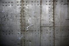 Metallplatten zusammengebaut mit Nieten Stockbilder