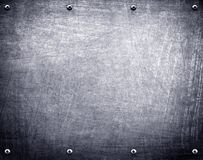 Metallplattenhintergrund Lizenzfreie Stockfotografie