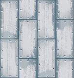 Metallplattenmustervektor Stockfotografie