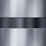 Metallplattor över mörker borstade den metalliska illustrationen för bakgrund 3d vektor illustrationer