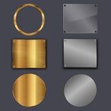 Metallplattor Fotografering för Bildbyråer