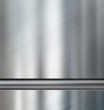 Metallplattor med den metalliska illustrationen för rörbakgrund 3d Royaltyfri Foto