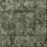 Metallplattor med illustrationen för kamouflage 3d royaltyfria foton