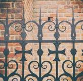 Metallport av den kristna kyrkan Arkivbilder