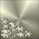 Metallpuzzlespiel-Hintergrund Lizenzfreies Stockfoto