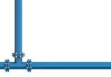 Metallrör som isoleras på en vit bakgrund stock illustrationer