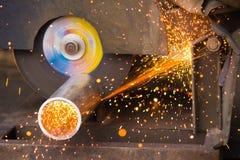 metallrør som utting Fotografering för Bildbyråer