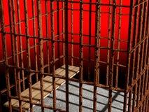 Metallrahmen 3d, Konzept des Gefängnisses Lizenzfreie Stockbilder