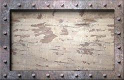 Metallrahmen mit Nägeln stockfotos