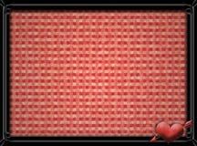 Metallrahmen mit rotem Herzen und Pfeil Lizenzfreie Stockbilder