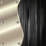 Metallramen på en mörk träbakgrund 19 Arkivfoto