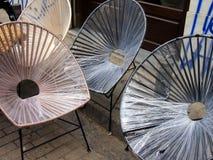 Metallstolar : Metallstolar arkivfoto bild