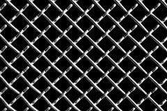 Metallraster på svart bakgrund arkivbild