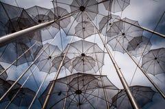 Metallregenschirme Stockfoto