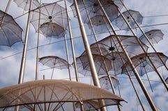 Metallregenschirme Stockbilder