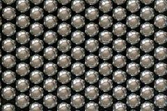 Metallriemenb?lle vereinbart in den Reihen, B?lle f?r Lager stockfotos