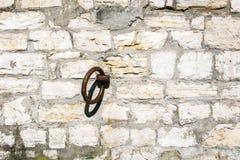 Metallring auf einem Stein Stockfotografie