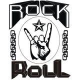 Metallrock-and-rolldesign corel abgehobener Betrag Stockbild