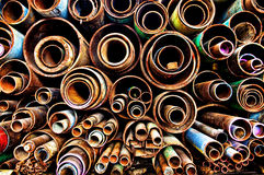Metallrohre stockfotografie