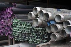 Metallrohre Stockbild